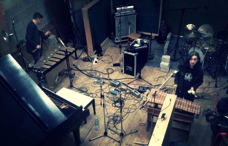 Alan Courtis Aaron Moore In Studio
